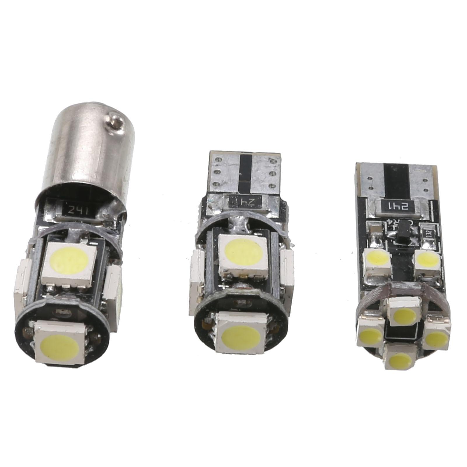 21pcs Car Interior White LED Light Bulb Kit for BMW 5 series M5 E60 E61 2004-2010 Canbus Error Free Light Replacement