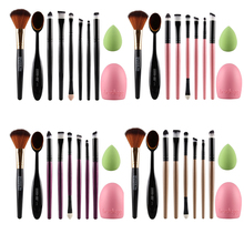 Makeup Brushes 10 Pcs 4Color Foundation Brush Soft Eye Cosmetics Beauty Make up Brushes Set Kabuki Tools Makeup Sponge brushegg