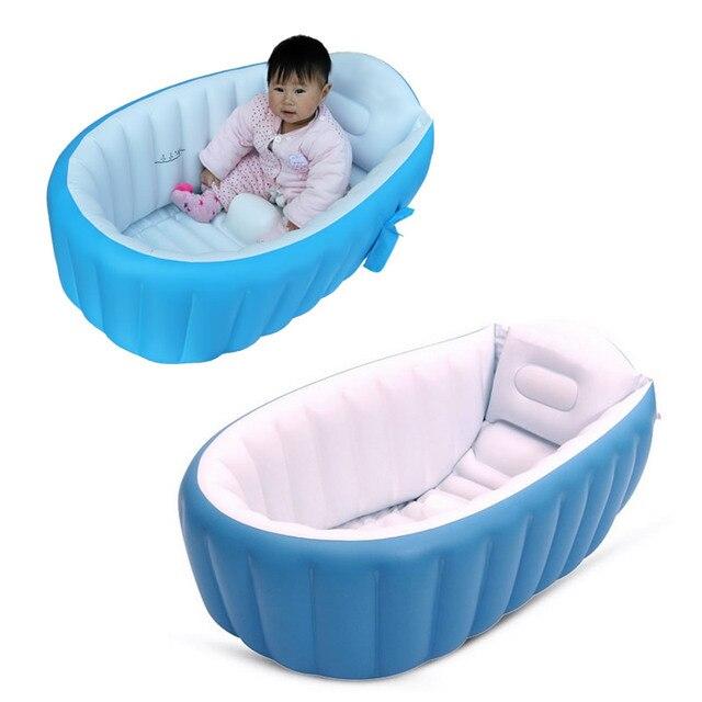 Portable Baby Infant Swimmingpool Travel Inflatable Bath Tub ...