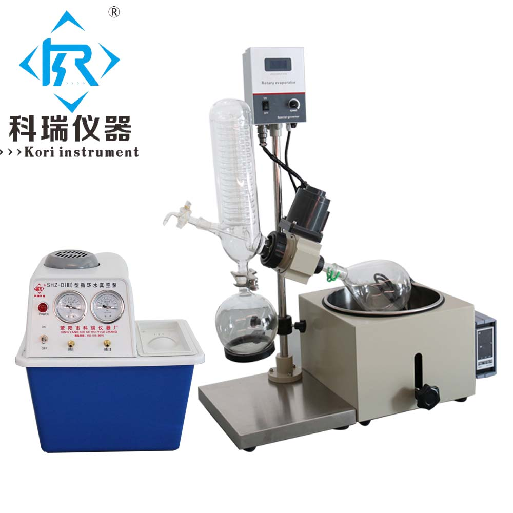 China Factory price for 1L Rotary evaporator with Water Ring vacuum pump (Heating bath, condenser, flasks)