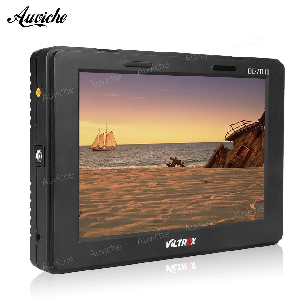 Viltrox 7 DC-70 II 1024*600 HD LCD HDMI AV Input Camera Video Monitor Display field monitor for Canon Nikon DSLR BMPCC