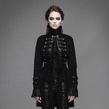 Steampunk Women Winter Coats Gothic Long Cotton Jacket Palace Stand Collar Winter Long Sleeve Coat Outwear