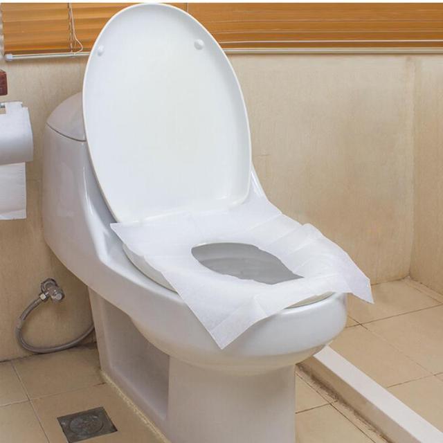 10 pz Impermeabile di Carta Igienica Pad di Campeggio di Viaggio Esterno Pratico