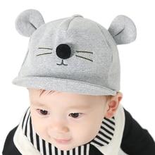 Kids Baby Lovely Cat Ear Baseball Cap For Girls Boys Cotton Blend Warm Visor  Soft Edge Caps Toddler Children Snapback Sun Hat 81febe04b434
