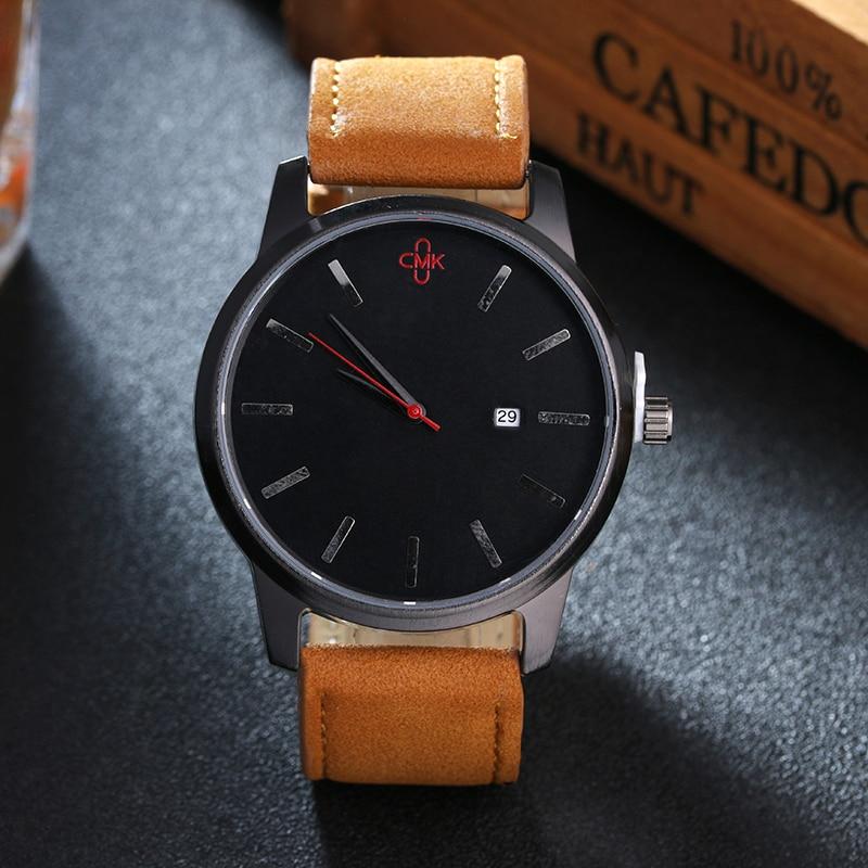 Military Leather Business Quartz Luxury Sport Casual wrist Men Watch 1