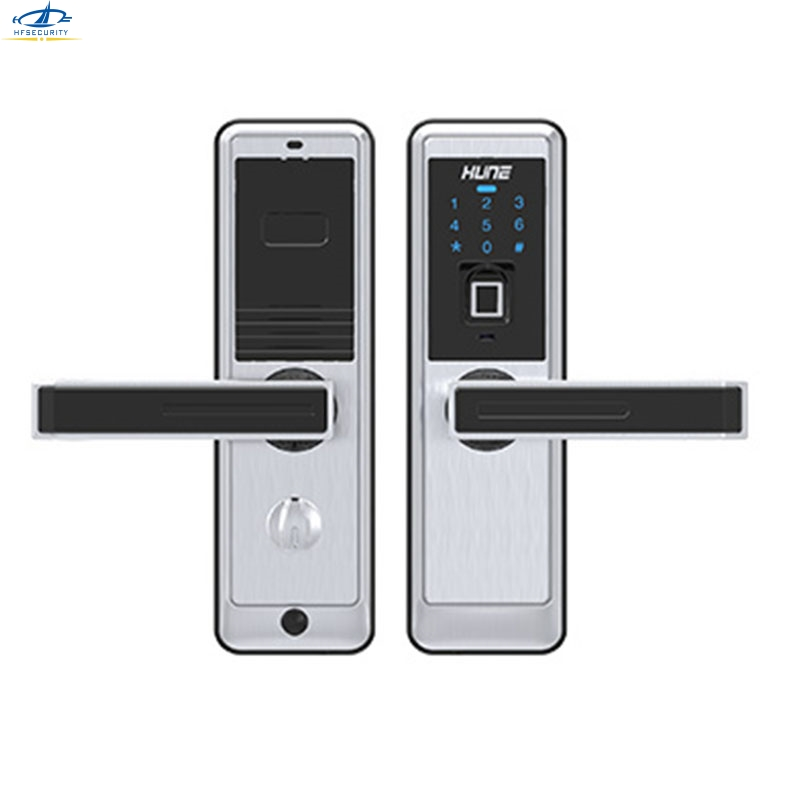 Hfsecurity fingerprint door lock electronic locks for for 1 touch fingerprint door lock