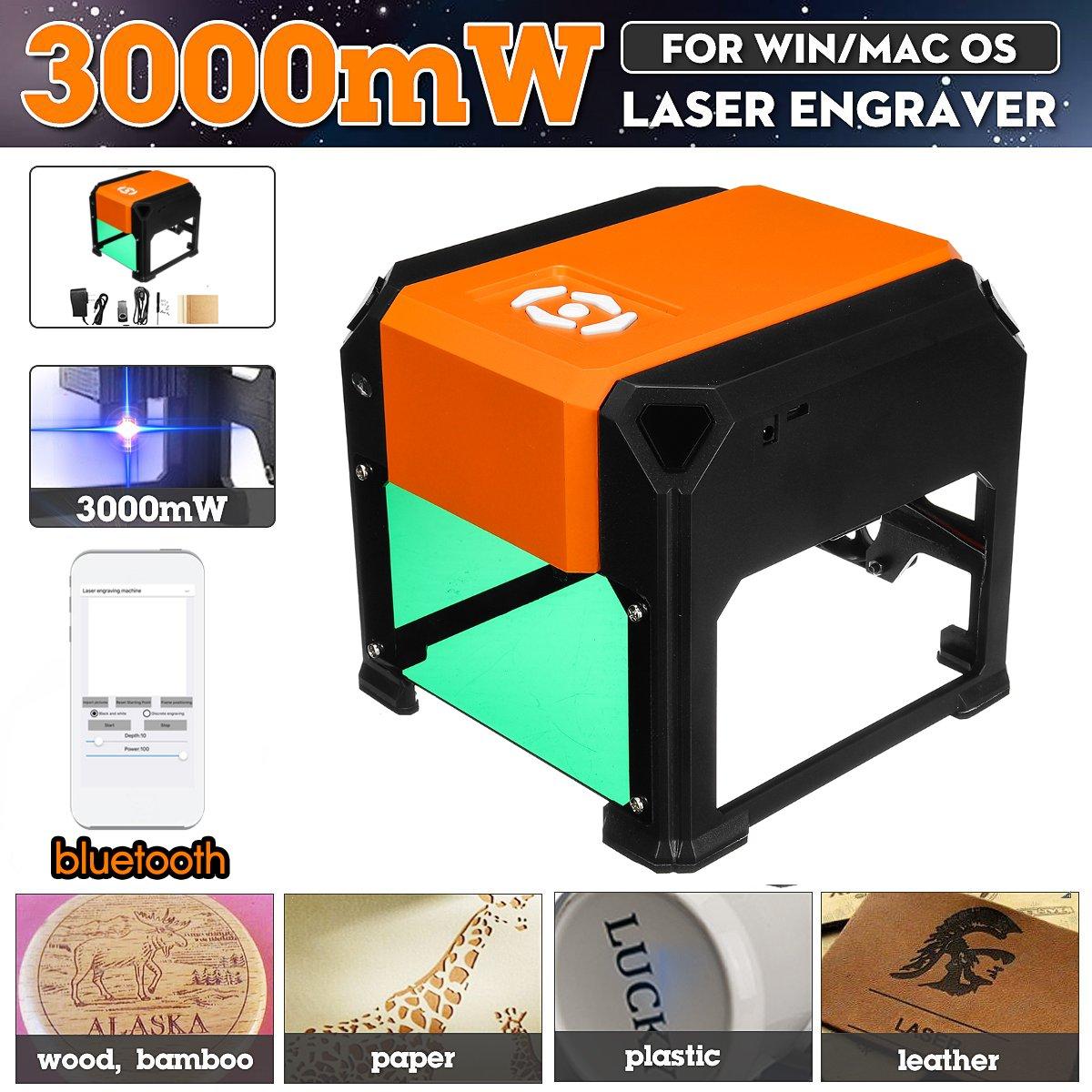 3000mW bluetooth Desktop CNC Laser Gravur Maschine USB Logo Kennzeichnung Engraver Drucker DIY Carving Cutter für IOS/Android