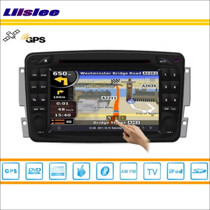 Liislee Car GPS Navi Navigation For Mercedes Benz A W168 1997~2004 Radio Stereo TV DVD iPod BT HD Screen S160 Multimedia System