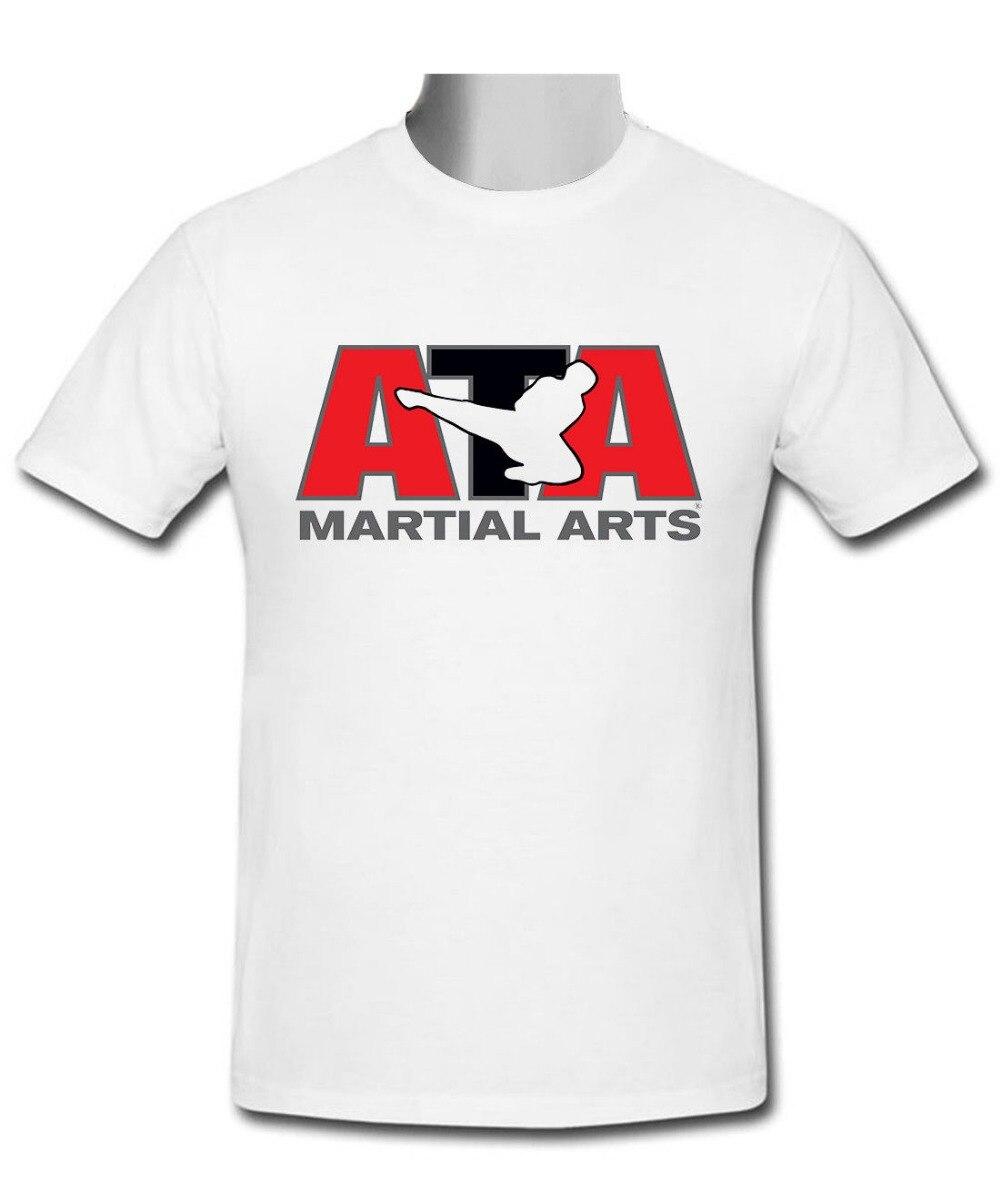 ATA тхэквондо Martialer искусств Gildan белый Для мужчин футболка Размеры s-2XL новая брендовая повседневная одежда