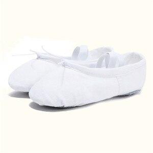 Image 5 - USHINE EU22 45 Vải/Da Đầu Tập Yoga Dép Giáo Viên Tập Gym Trong Nhà Tập Thể Dục Vải Váy Múa Giày Trẻ Em Bé Gái Người Phụ Nữ