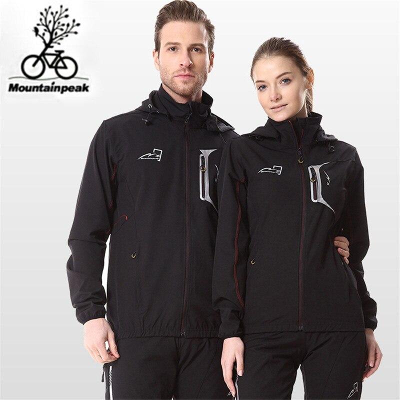 Mountainpeak Cycling Jacket Sets Winter Thermal Fleece Racing Clothing Windproof Riding Jacket Sportswear Suit Pants