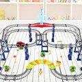 Kid carro órbita 3D Dois-camada Espiral Elétrica Brinquedo Pista Roller Coaster Rail Car Pacote de Presente Livre Jogo Jogos de Corrida De Carro Em Estoque