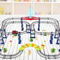 kid orbit car 3D Two-layer Spiral Track Roller Coaster Toy Electric Rail Car Free Play Car Racing Games Gift Package In Stock