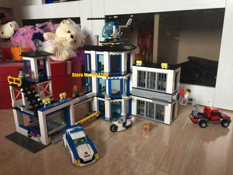 NEW City Police Station children fit legoings city swat police figures model Building Blocks Bricks 60141 gift boys kid diy Toys bohs building blocks city police station coastal guard swat truck motorcycle learning