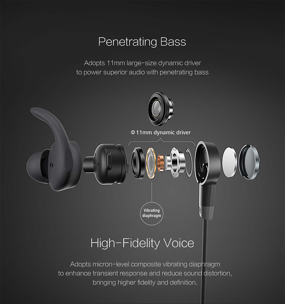 Huawei Honor xSport Bluetooth Headset AM61 IPX5 Waterproof BT4.1 Music Mic Control Wireless Earphones for Android IOS D5 (6)