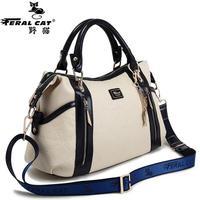 FERAL KATZE Pu-leder Damen Umhängetasche Marke Crossbody Taschen für Frauen Tote Schulter Handtaschen Zipper Solide Big Bags Heißer verkauf