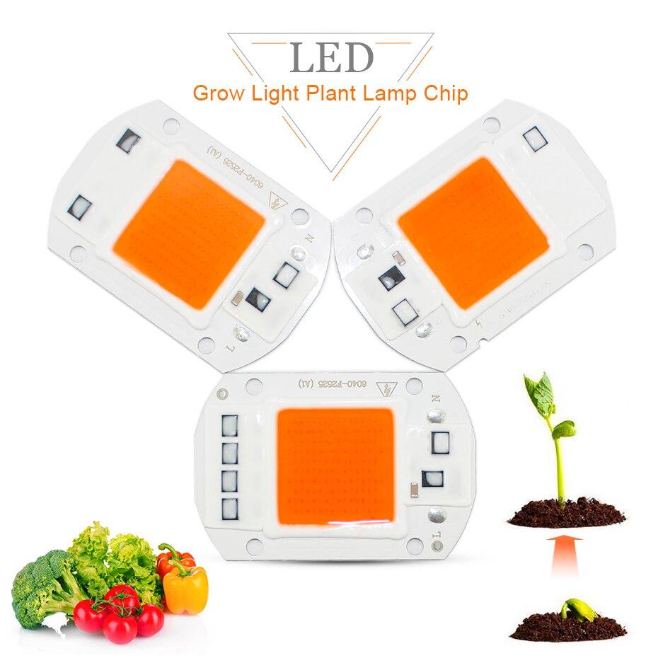 110V 220V Full Spectrum LED Plant Grow Light Chip 20W 30W 50W Phyto Lamp For Seeds Flower Greenhouse Veg Garden Hydroponics