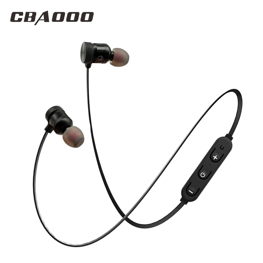 CBAOOO C40 Bluetooth Earphone Sport Wireless Headset With Mic Magnetic Hifi Stereo Earbuds Bass Earphones For Phone auriculares super bass earphone hifi stereo sound 3 5mm earbuds in ear earphones with mic sport running headset for phone