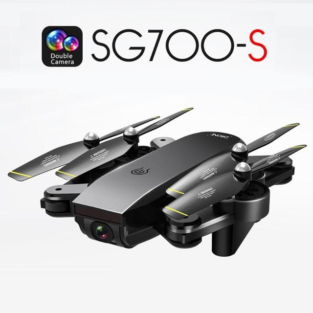 SG700-S Drone WiFi 720P/1080P/4K Dual Cameras Optical Flow Quadcopter with Battery Speed Switch APP Watching Plam Control