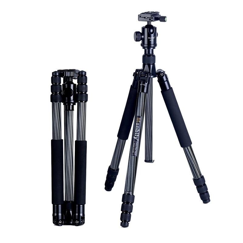 Manbily CZ 308 tripod Carbon fiber large diameter SLR camera professional travel micro single photography bracket