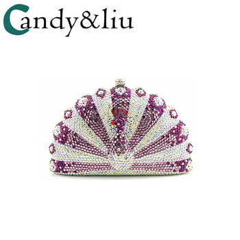 custom-made high-end flat-bottomed crystal peacock clutch pack evening pack luxury dress pack European and American - DISCOUNT ITEM  27% OFF All Category