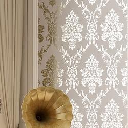 Дамасские Роскошные Металлические Блестящие золотые обои для гостиной, обои для домашнего декора, обои для стен спальни