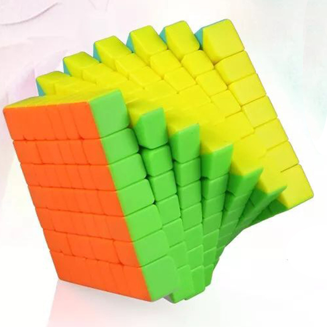 US $13 84 20% OFF|New Qiyi QiXing S 7x7x7 Magic Cube Stickerless MoFangGe  MFG QiXing Black Speed 2018 Cube Competition Toys for Beginner Children-in