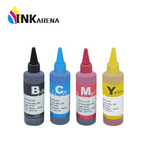 INKARENA Bottle Universal 4 Color Dye 100ML Premium Dye Ink Refilled ink Replacement for HP 920 655 178 364 Printer ink Refill