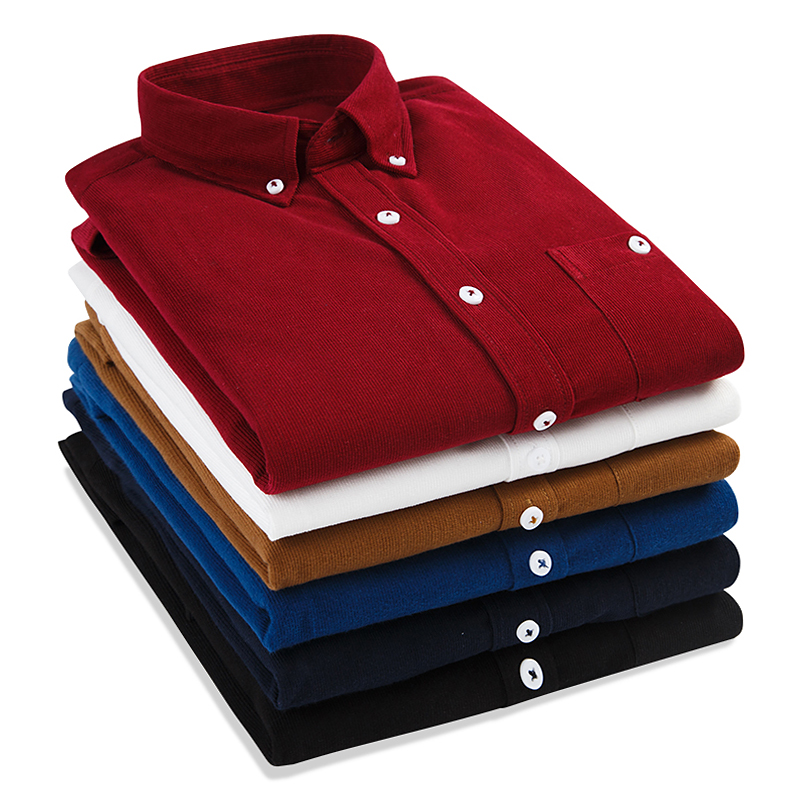 2017 Демисезонный Особенности Рубашки для мальчиков Для мужчин Повседневное модные вельветовые Вельветовая рубашка новое поступление с дли...