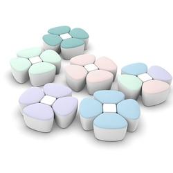 ideacherry Baby Formula Milk Powder Container Kids Portable Dispenser Sealed Storage PP Case for Four-lattice Flower Feeding Box