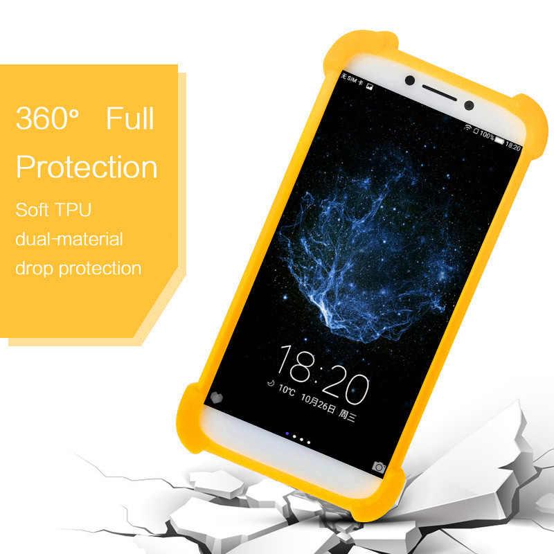 Bluboo d2 caso de silicona cubierta de la piel de la correa para el cuello teléfono titular para Bluboo d5 pro s3 caso de parachoques del TPU