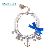 Sansummer 2019 New Hot Fashion Statement Bowknot Girl Charm Feautiful Bracelet For Women Casual Jewelry 5063