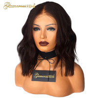 Short Bob Body Wave Hair Lace Front Wigs Peruvian Virgin Human Hair Lace Front Wigs With Baby Hair for Women 1b Bleached Knots