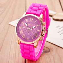 reloj mujer Br   New Watch Soft Fashion Casual Women's Silicone B  Watch Jelly Quartz Wristwatches Of Gold Rome Number Dial 9062