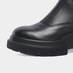 Image 5 - MORAZORA حجم كبير 34 42 جديد جودة عالية جلد طبيعي حذاء من الجلد للنساء سستة الخريف الشتاء منصة الأحذية أحذية نسائية