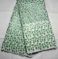 Latest High Quality Swiss Design African handcut Double organze Full Sequins lace Fabric For Nigeria Wedding