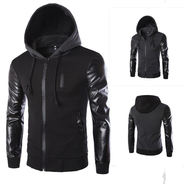 Men fight skin sleeve hooded jacket fashion design