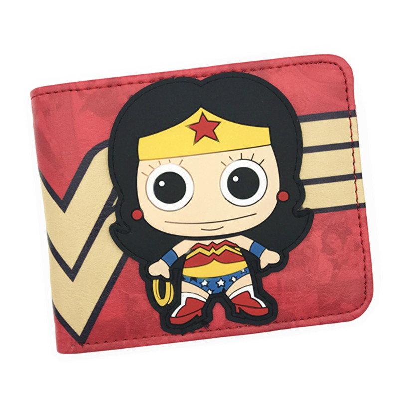 New Arrival 2017 DC Wonder Woman Wallet Superwomen Wallet Super Hero Purse Anime Wallet For Young dc wonder woman wallet suicide squad purse super hero fashion cartoon wallets personalized anime purses for teens girl student