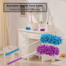 Creative Stretch Extend Microfiber Dust Adjustable Feather Duster Household Dusting Brush Cars Cleaning Color