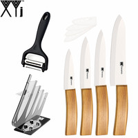 XYj Brand High Grade Ceramic Knife 6 Pcs Set Kitchen Knife For 3 4 5 6