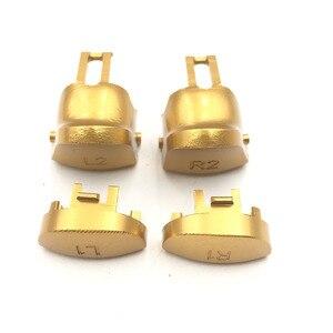 Image 3 - Metal de alumínio l1 r1 l2 r2 botão conjunto para ps4 magro pro controlador jds JDM 040 botões gatilho
