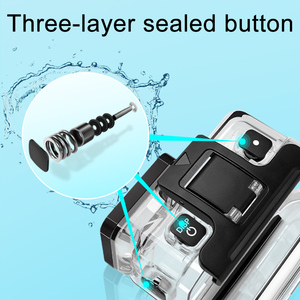Image 2 - Водонепроницаемый чехол для спортивной камеры, новинка для DJI Osmo Action Diving, водонепроницаемый корпус, аксессуары 2019