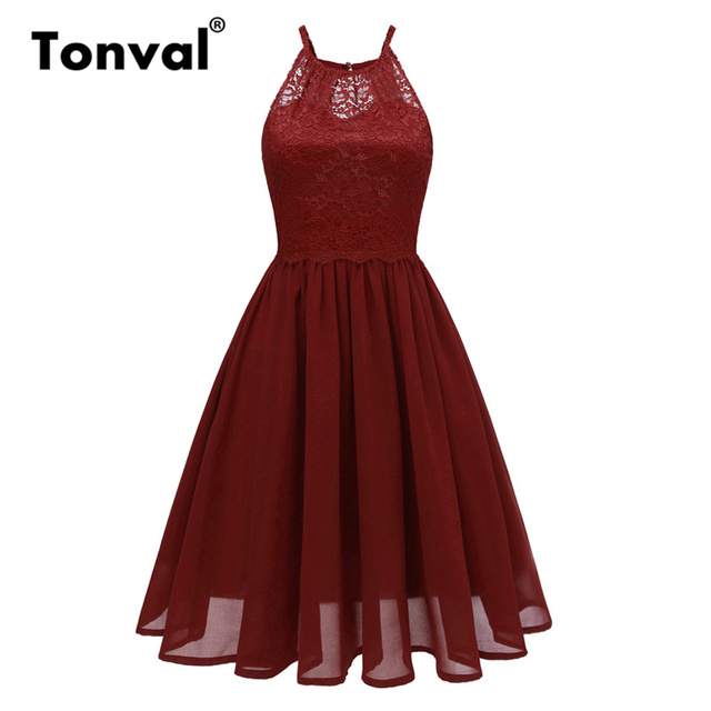 Pleated Chiffon Dress