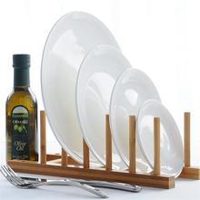 Plato de boda de hueso de color blanco de 10 pulgadas plato de arroz vintage de cerámica vajilla blanca platos para pastel apto para microondas