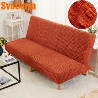 Svetanya Elastic Stretch Sofa Bed Cover Tight All inclusive Slip resistant Slipcover Sofa Length No armrest