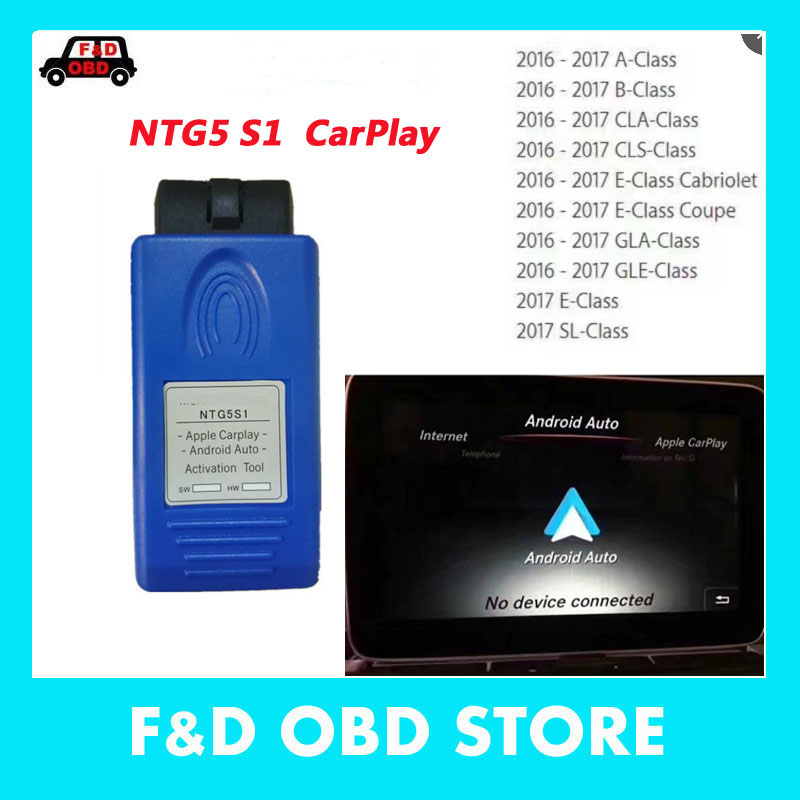 2019 The Newest CarPlay For Mercede NTG5 S1 Apple And Android Auto Activation Tool IPhone/Android Free Shipping In Stock