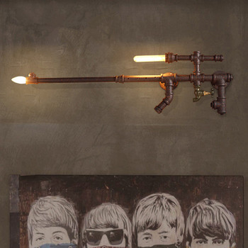 Creative Retro Nostalgic Water Pipe wall lamp American Village Aisle Decoration Bar Wall Light