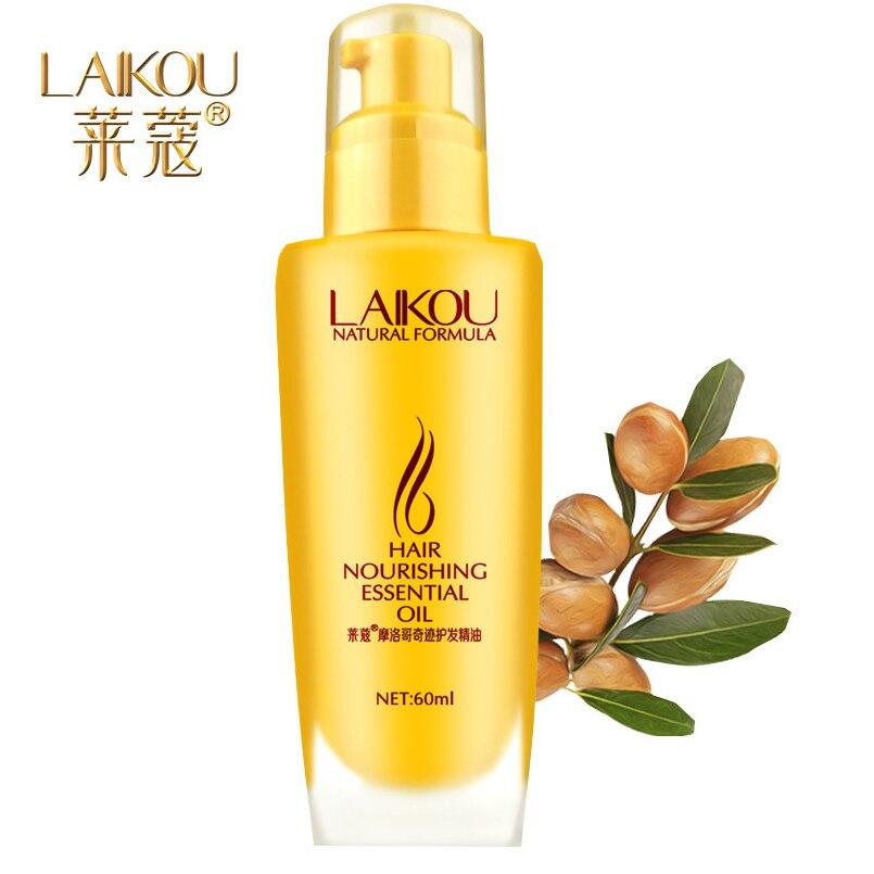 LAIKOU Brand 60ml Morocco Argan Oil Hair Care Dry Damaged Repair Treatment Nourishing Essential Oil Hair Loss Products Maquiagem