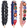Botom New Flower Straps PU Leather Handbag Colorful Flower Strap Fashion Tide Women Bolsa Belt Bag Accessories Gifts Bag Strap