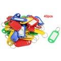 40 Шт. Разрезное Кольцо Красочные Пластиковые ID Этикетка Ключ
